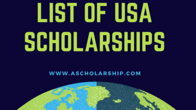 List of Scholarships in USA