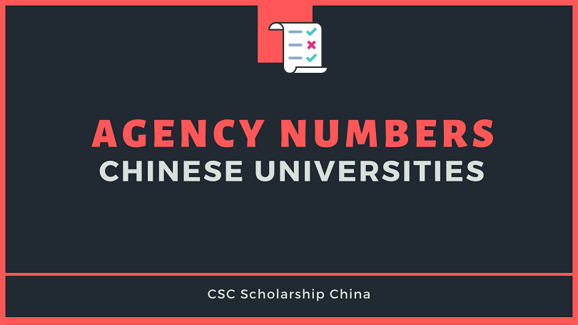 Agency Numbers of Chinese Universities