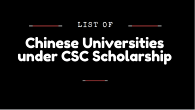 Chinese Universities under CSC Scholarship 2020