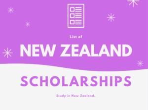 Scholarships in New Zealand