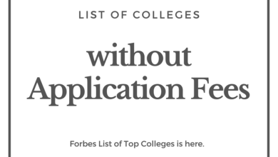 Forbes List of Top Colleges Without Application Fees 2020-2021