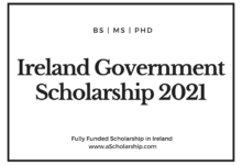 Ireland Government Scholarship 2021