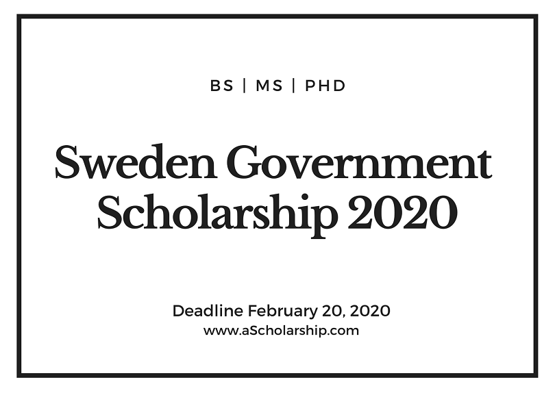 Sweden Government Scholarship by Swedish Institute Scholarship 2020-2021