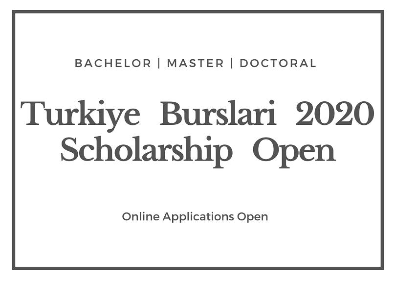 Turkiye Burslari Scholarship 2020-2021-Deadline February ...
