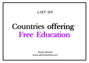 List of Countries offering Free Education to international Students
