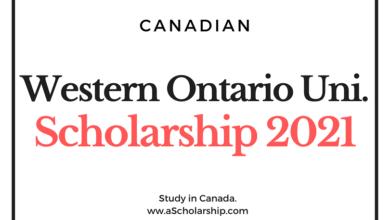 University of Western Ontario Scholarship 2021 for international Students