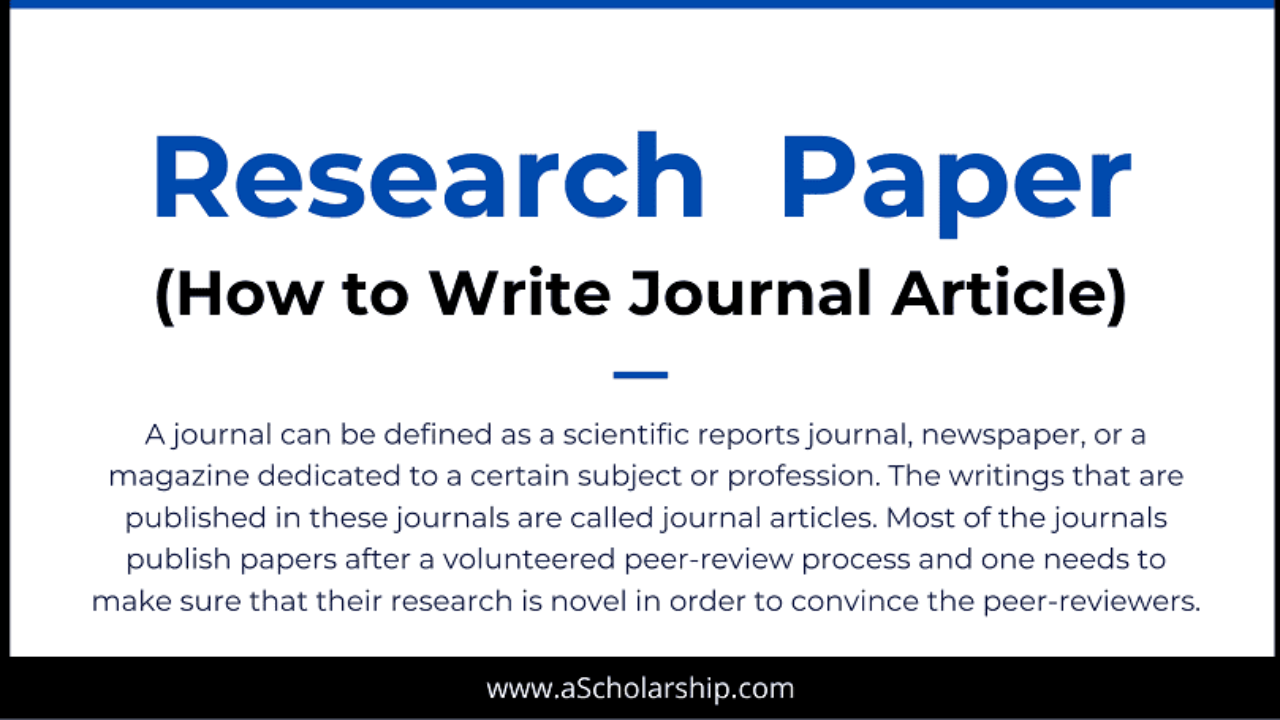 5 Tips in Writing a Scientific Research Paper: Journal Paper